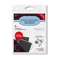 3D Foam Creative Sheets Small, Black 01229
