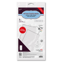 3D Foam Creative Sheets Medium, white 01400