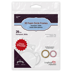3D Foam Circle Frames White