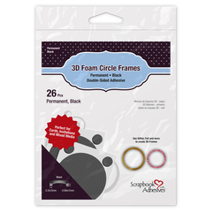 3D Foam Circle Frames Black