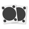01406 3d foam circles frames blk open