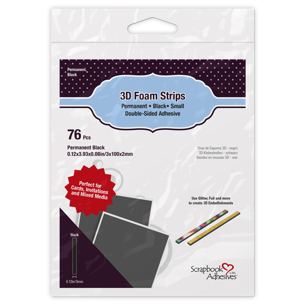 3D Foam Strips Black