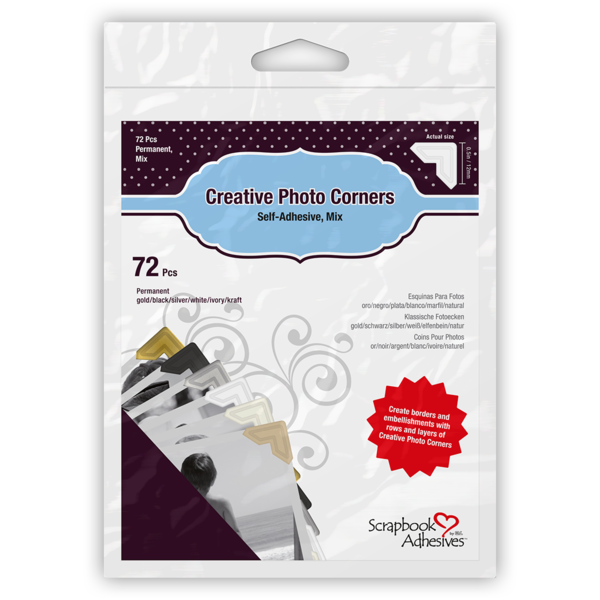 Creative Photo Corners Mix Pack, Variety Pack