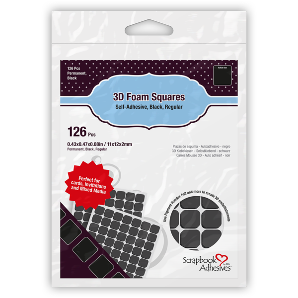 3D Foam Squares Back Regular Size