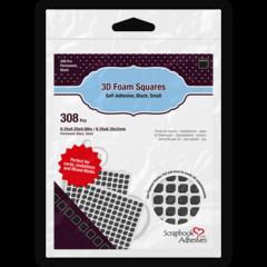 3D Foam Squares Black Small Size