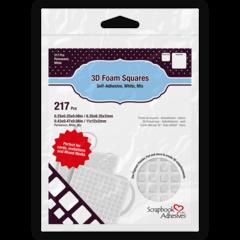 3D Foam Squares White Mixed Sizes