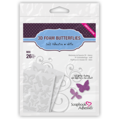 3D Foam Butterflies Adhesive shapes