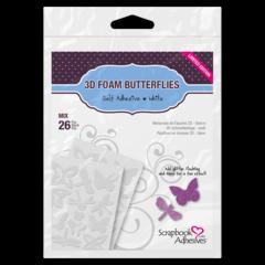 3D Foam Butterflies Adhesive shapes