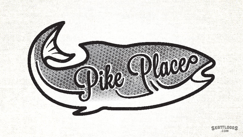 PIKE PLACE by Seattlogos.com