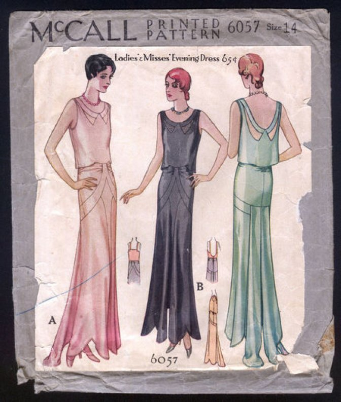 McCall 6057 | Vintage Sewing Patterns | Evening Dresses - Sewcratic