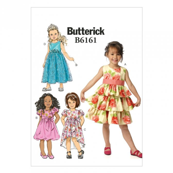 Butterick 6161 | Sewing Patterns | Girls\' Dresses - Sewcratic