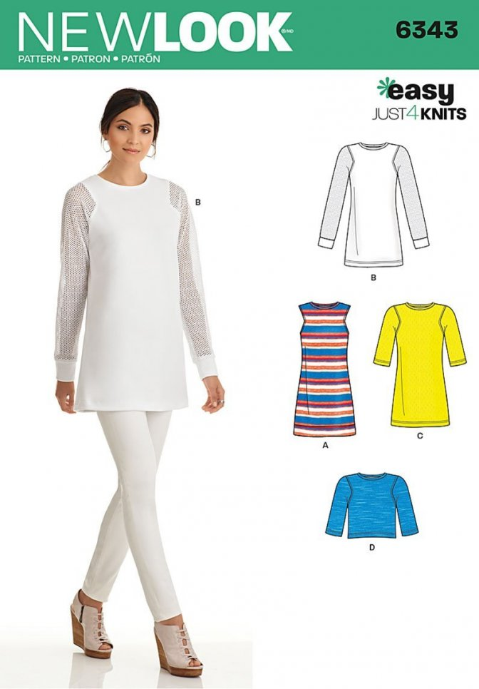 New Look 40 Sewing Pattern Misses Tunics Tops Sewcratic Fascinating New Look Patterns