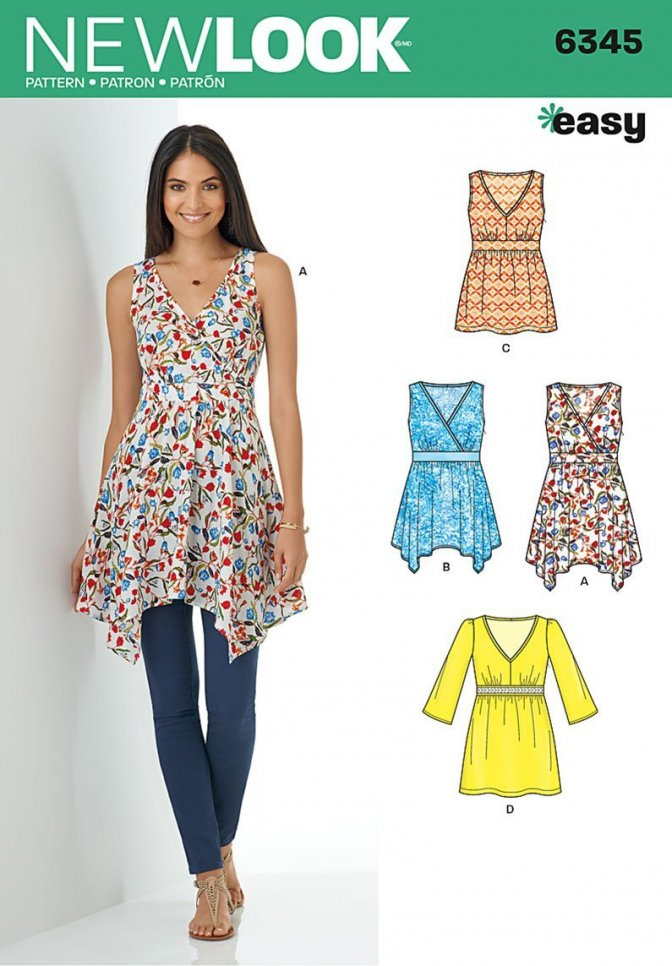 New Look 6345 Sewing Pattern Misses Tops Sewcratic