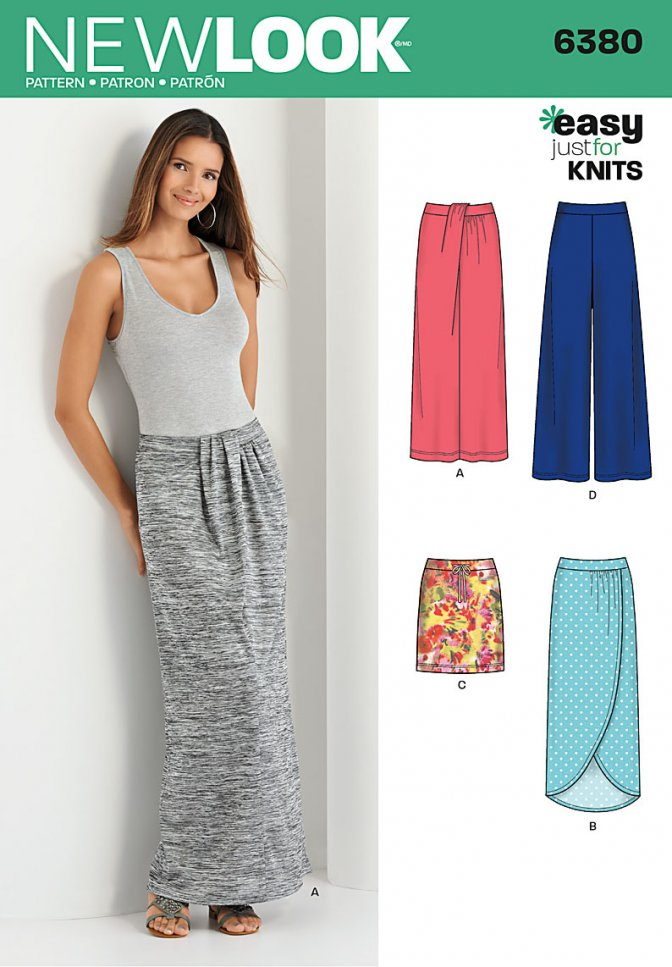 New Look 6380 | Sewing Patterns | Knit Skirts & Pants - Sewcratic