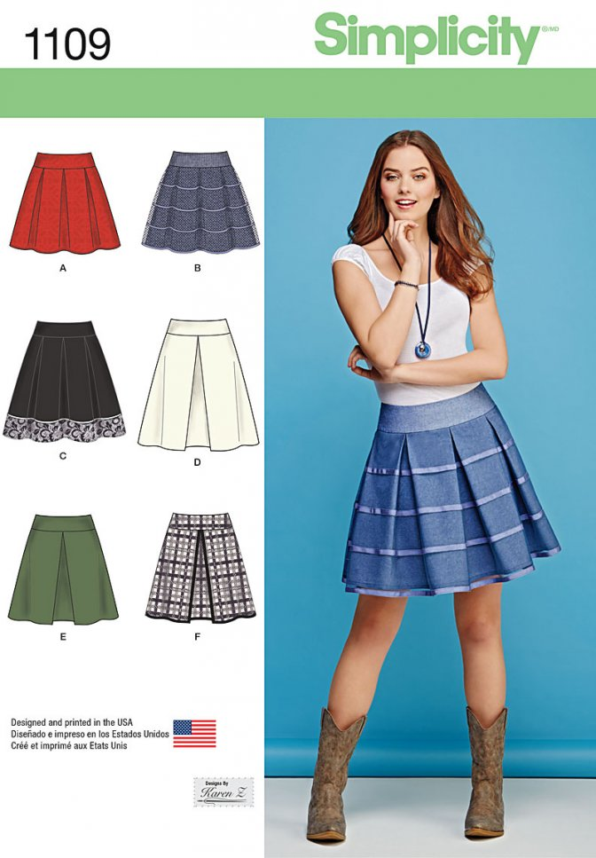 Simplicity 1109 Sewing Patterns Misses Skirts Sewcratic