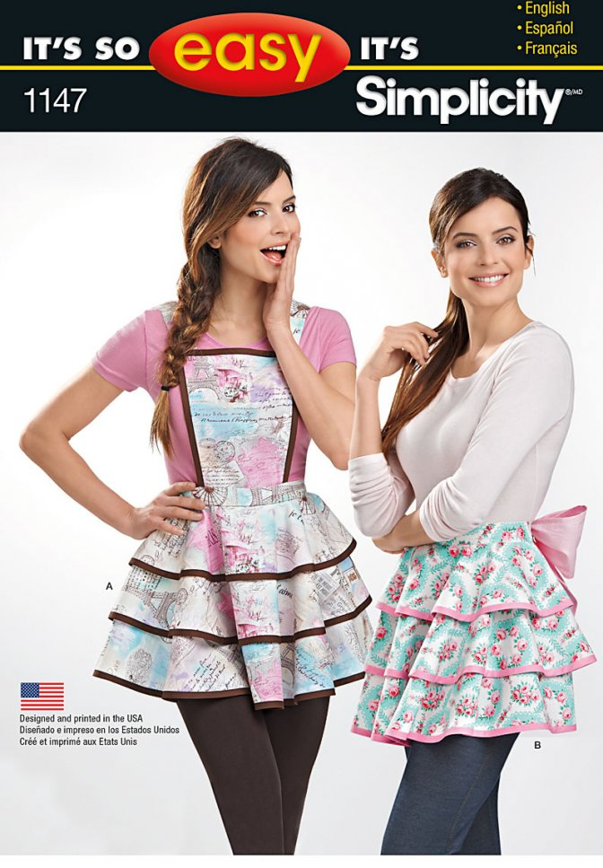Simplicity 1147 | Easy Sewing Patterns | Aprons - Sewcratic