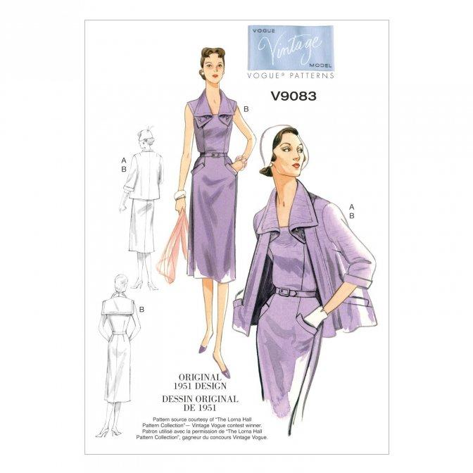 Vogue 9083   Sewing Patterns   Vintage Dress & Jacket - Sewcratic