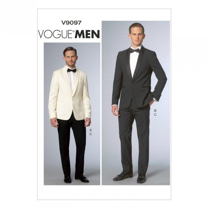 Vogue 9097 | Sewing Pattern | Men\'s Suit Jacket & Pants - Sewcratic