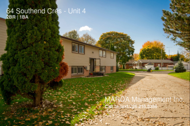 64 Southend Cres CHATHAM LG TWO BDRM APT IN QUIET AREA $650   HYDRO - NEW UPDATES