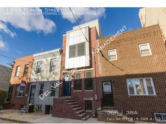 1805 Fernon Street New Construction 3-Bedroom 3-Story Townhouse for Rent - 1805 Fernon Street - Roof-Top Deck!