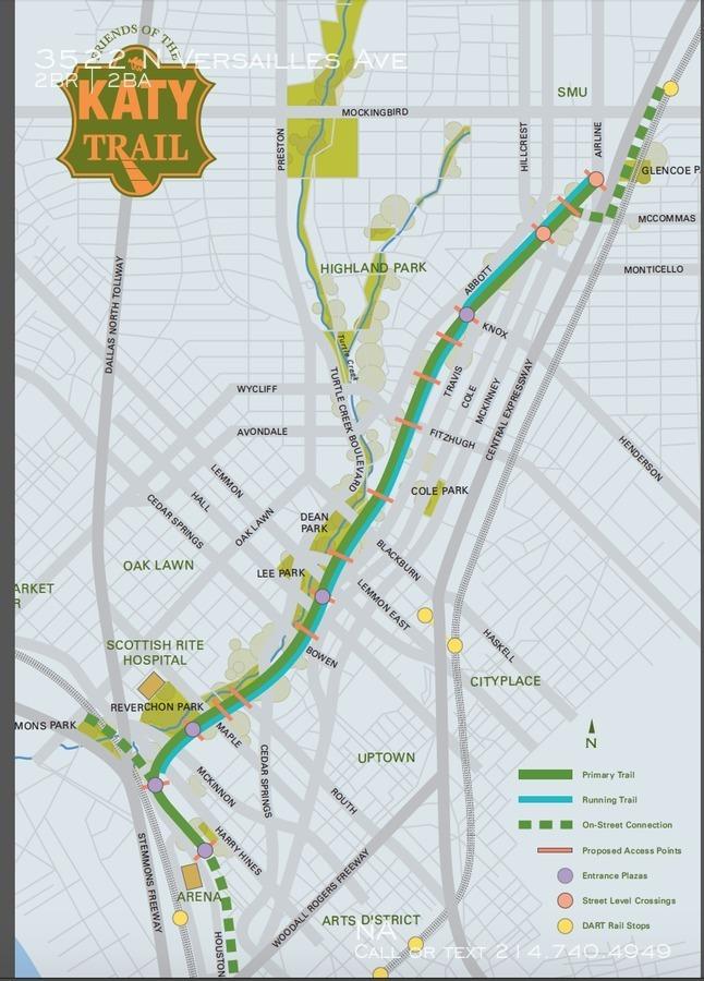 Katy trail map
