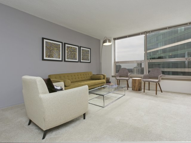 Presidential towers chicago il spacious living rooms