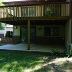 1   upper deck and lower patio