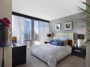 Flair_tower_--_master_bedroom_-_river_north_apartments_for_rent