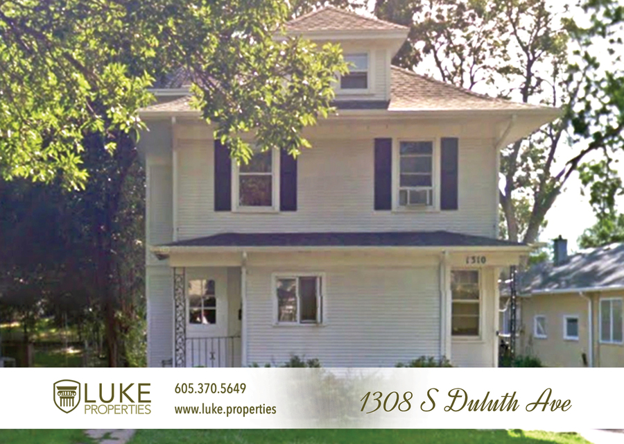 Luke properties 1308 s duluth ave sioux falls sd 57105 house for rent 1