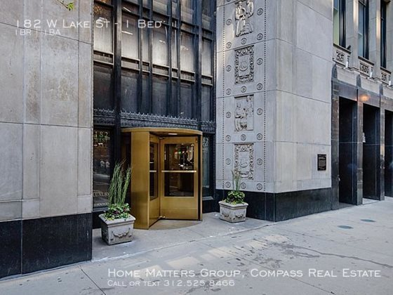 Century tower apartments for rent in the loop   entrance