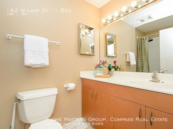 Century tower apartments for rent in the loop   upgraded finishes in bright bathrooms