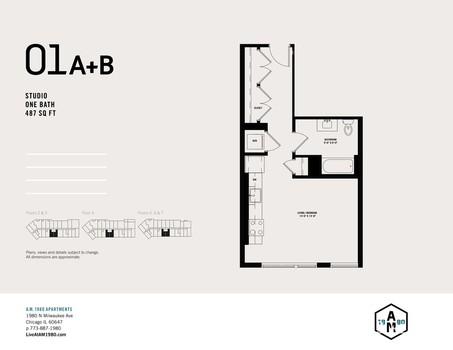 01a b   studio floorplan