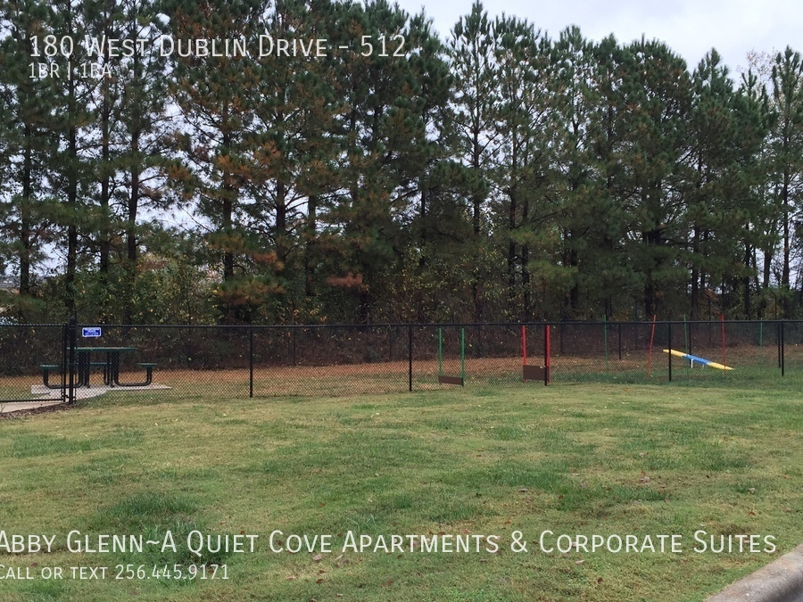 25 bark park is large and includes agility equipment