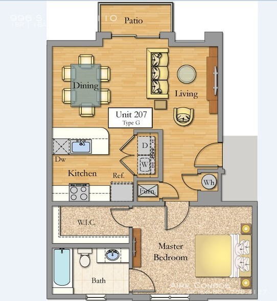 Ac_1_bed_floorplan