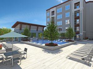 Pool luxury apartments in houston