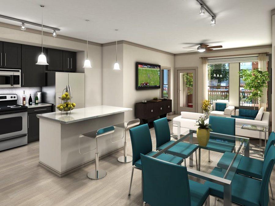 Kitchen luxury apartments in houston