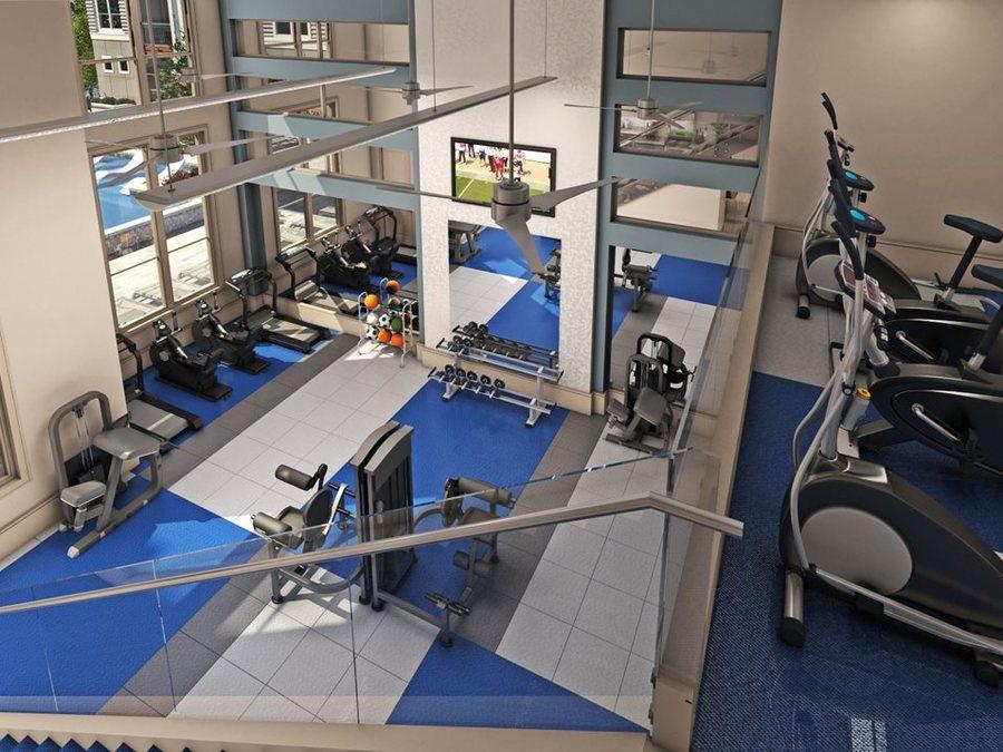 Fitness center luxury apartments in houston