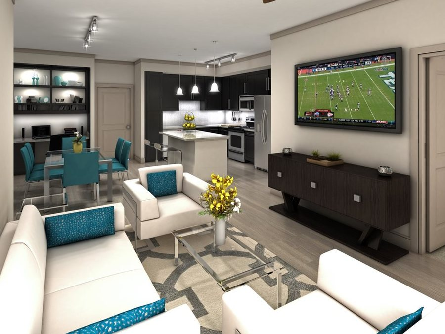 Living room luxury apartrments in houston