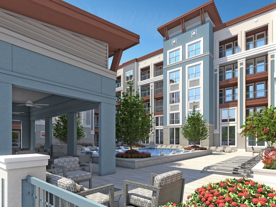 Outdoor lounge luxury apartments in houston