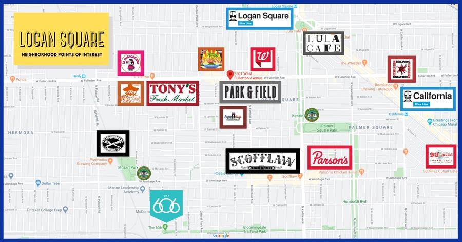 Logan square map