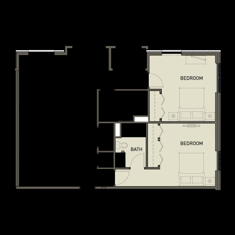 2b 2 bedroom