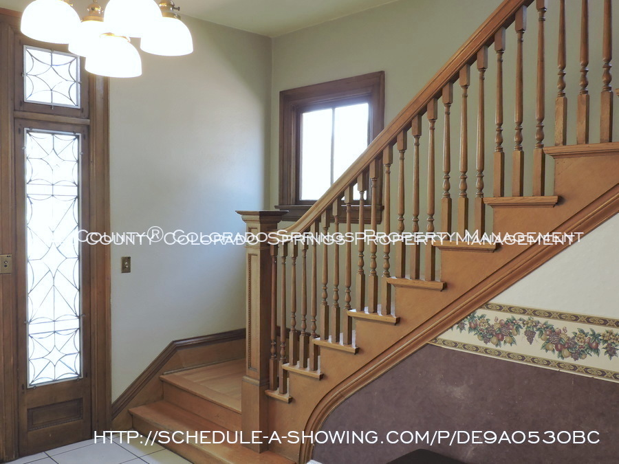 Room for rent downtown in quaint old house near colorado college cc main staircase