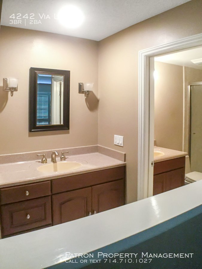 Master bathroom sink with counter