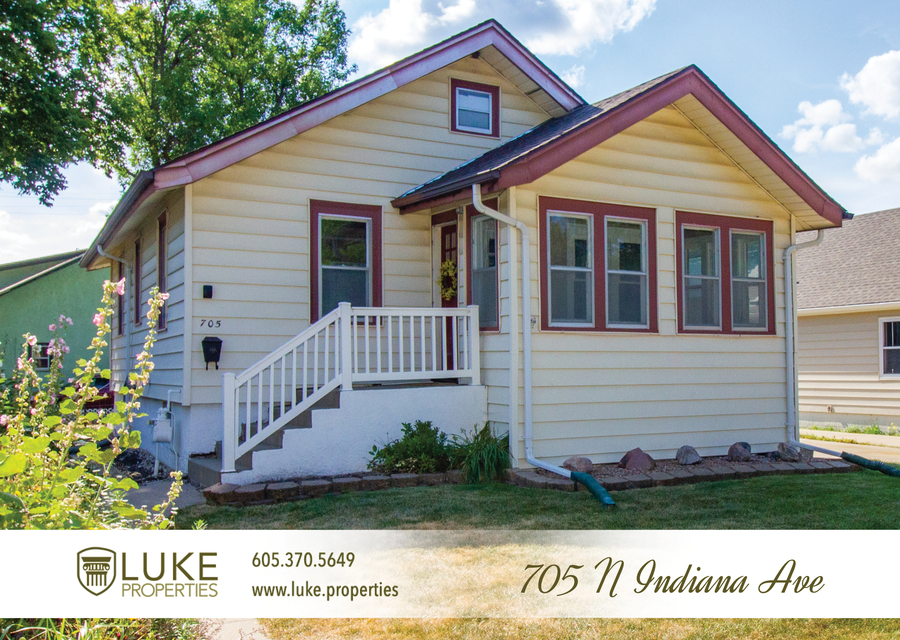 Luke properties 705 n indiana sioux falls sd 57103 house for rent