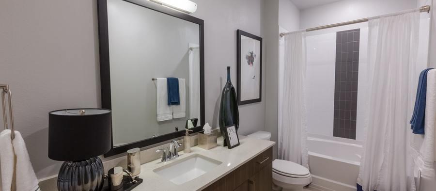 6 post south lamar 247600 post south lamar 1br model phase 2 bathroom 1200x525 min