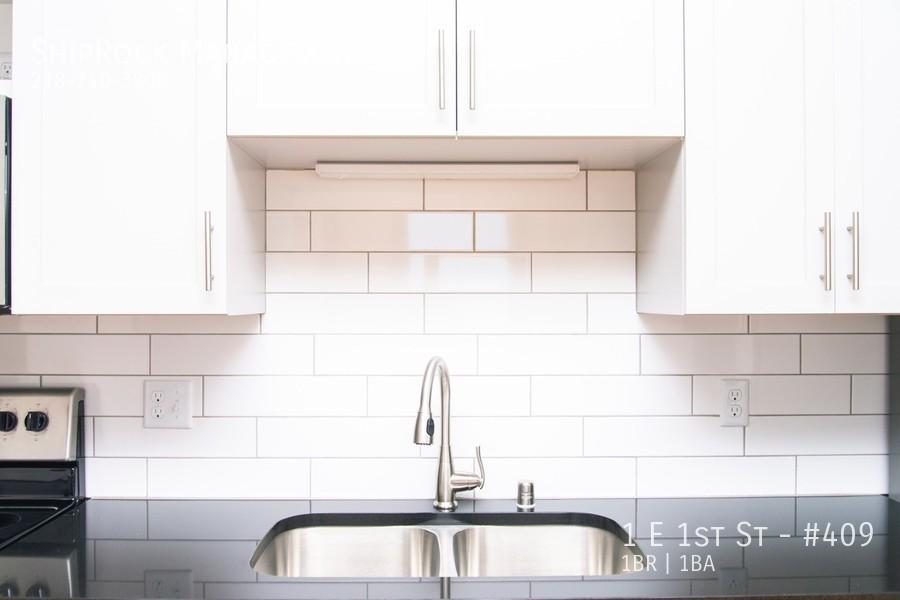 Cove apartments kitchen details sink