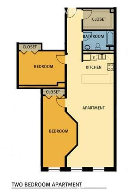 Br two bedroom layout