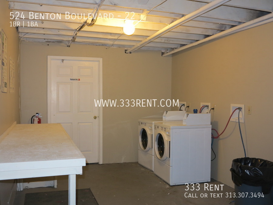 8shared laundry facilities