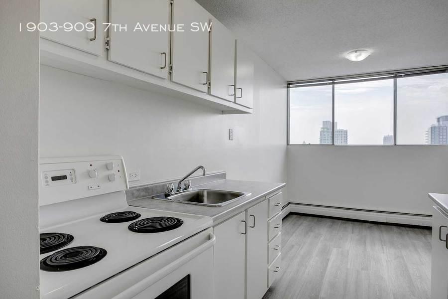 Grey unrenovated kitchen