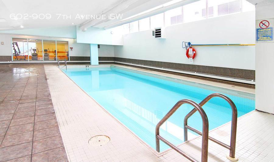 Pool with old exercise room